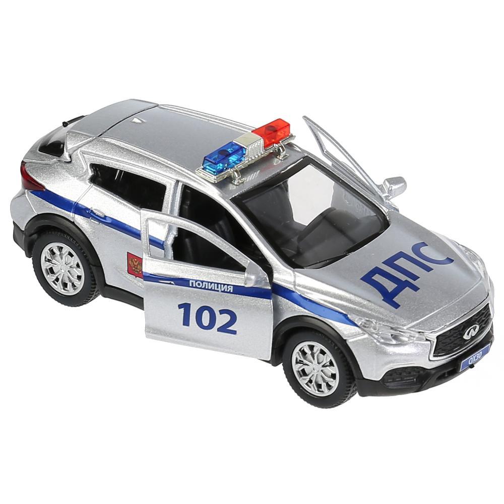 Купить Инерционная металлическая машина Infiniti Qx30 – Полиция, 12 см, свет-звук, Технопарк