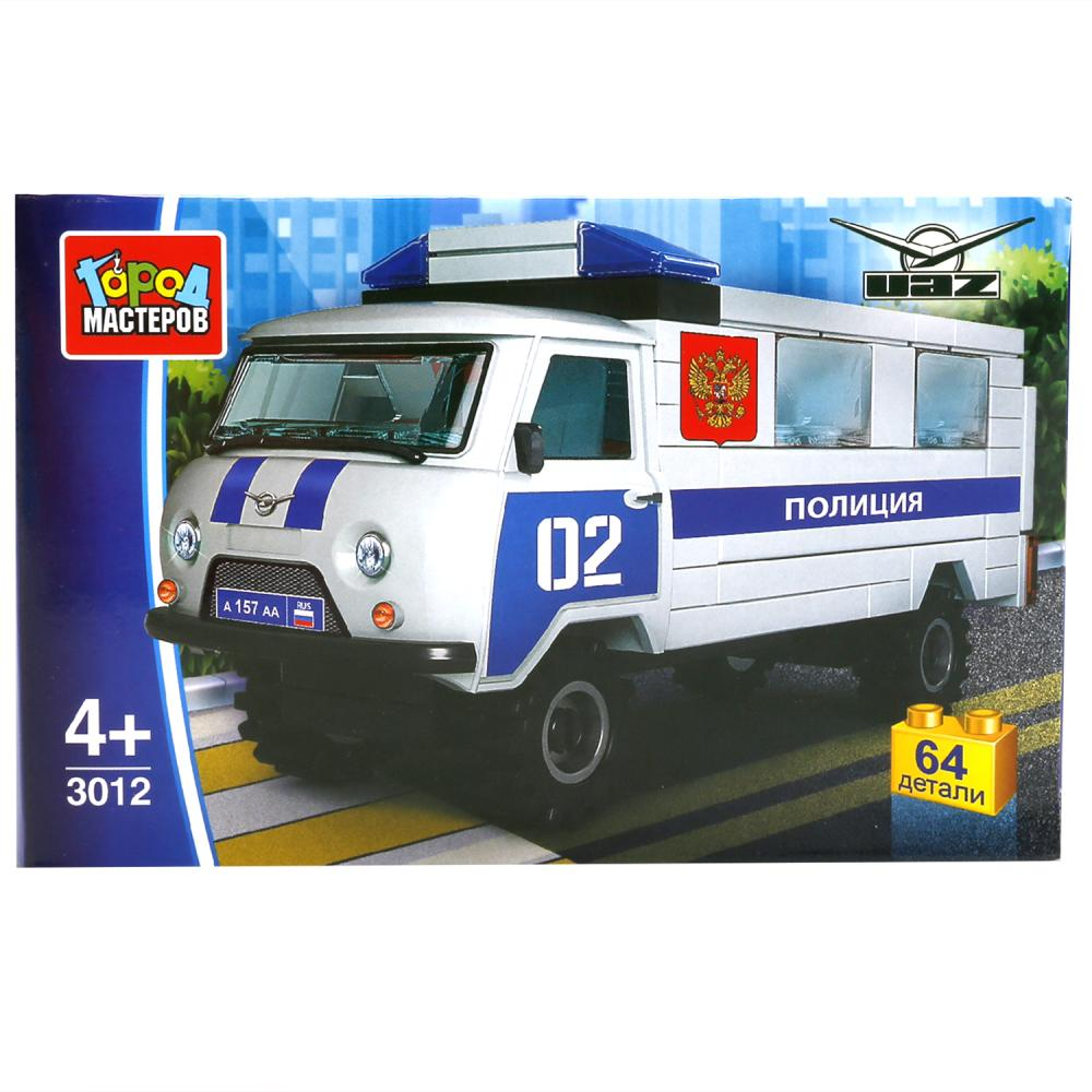 Купить Конструктор – Полиция УАЗ 452, 64 детали, Город мастеров