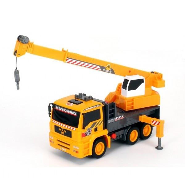 Машина с краном из серии AirPump, 31 см.Бетономешалки, строительная техника<br>Машина с краном из серии AirPump, 31 см.<br>