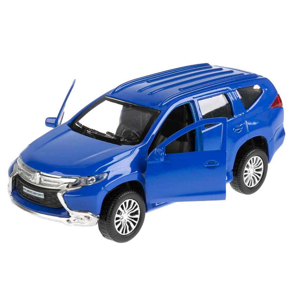 Купить Машина металлическая Mitsubishi Pajero Sport 12 см, открываются двери, инерционная, цвет синий, Технопарк