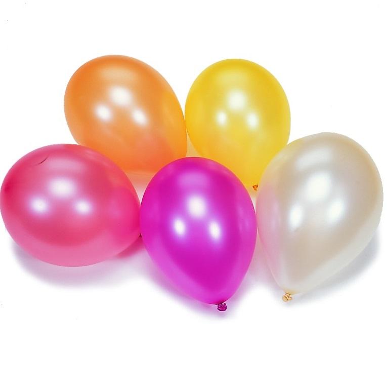 Набор из 10 разноцветных шариков с перламутромВоздушные шары<br>Набор из 10 разноцветных шариков с перламутром<br>