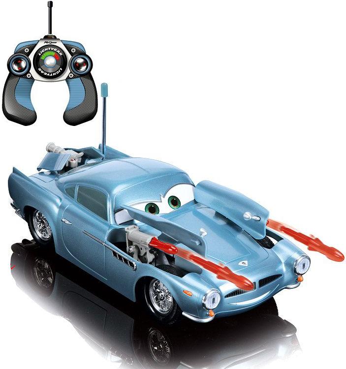 Cars-2 Финн МакМиссл на радиоуправлении со светом, звуком и пушками с ракетами, 33 см.CARS 2 (Игрушки Тачки 2)<br><br>