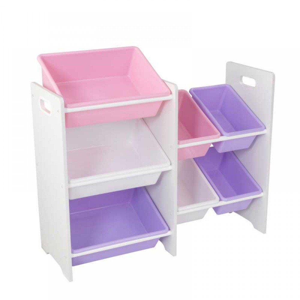 Купить Система хранения с 7 контейнерами, белая, KidKraft
