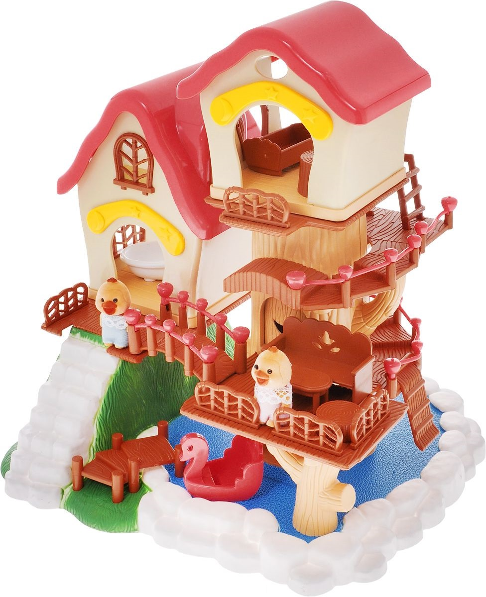 Летний домик с аксессуарами из серии «Счастливые друзья»Кукольные домики<br>Летний домик с аксессуарами из серии «Счастливые друзья»<br>
