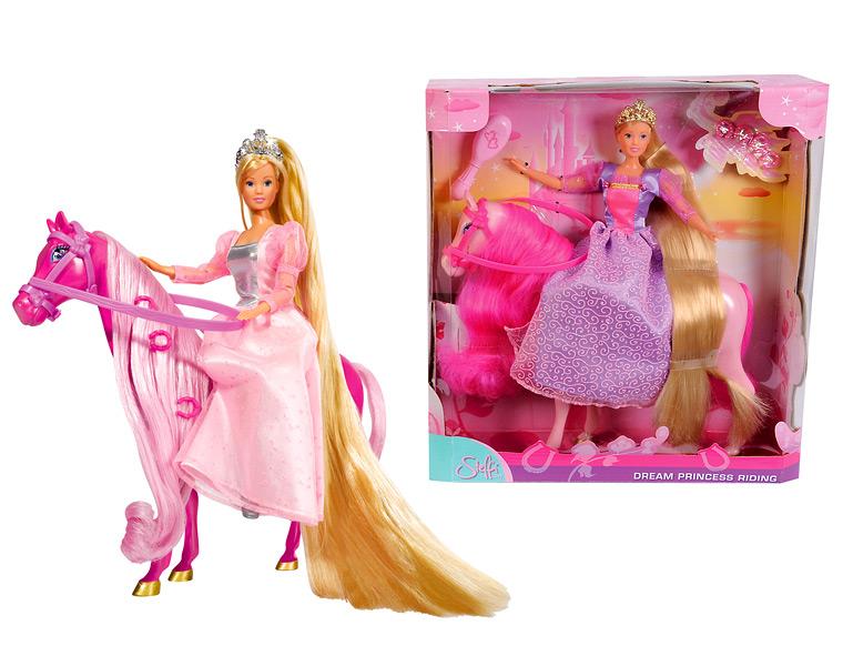 Кукла Штеффи Супердлинные волосы с лошадкой, 2 видаКуклы Steffi (Штеффи)<br>Кукла Штеффи Супердлинные волосы с лошадкой, 2 вида<br>