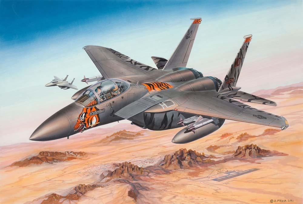 Сборная модель - Самолет истребитель F-15 ИглМодели самолетов для склеивания<br>Сборная модель - Самолет истребитель F-15 Игл<br>