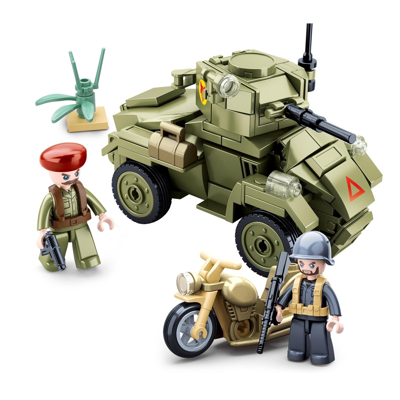 Конструктор – Армия: танк и мотоцикл с фигурками, 154 детали по цене 266