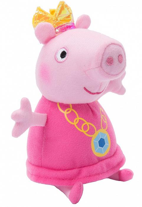 Купить Мягкая игрушка Peppa Pig - Пеппа-принцесса, 20 см, Росмэн