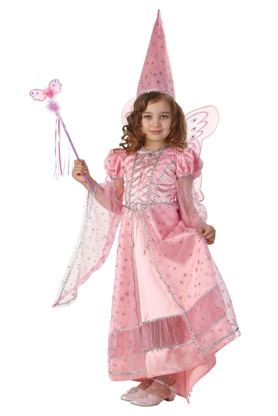 Купить Карнавальный костюм для девочек - Фея сказочная розовая, размер 128-64, Батик