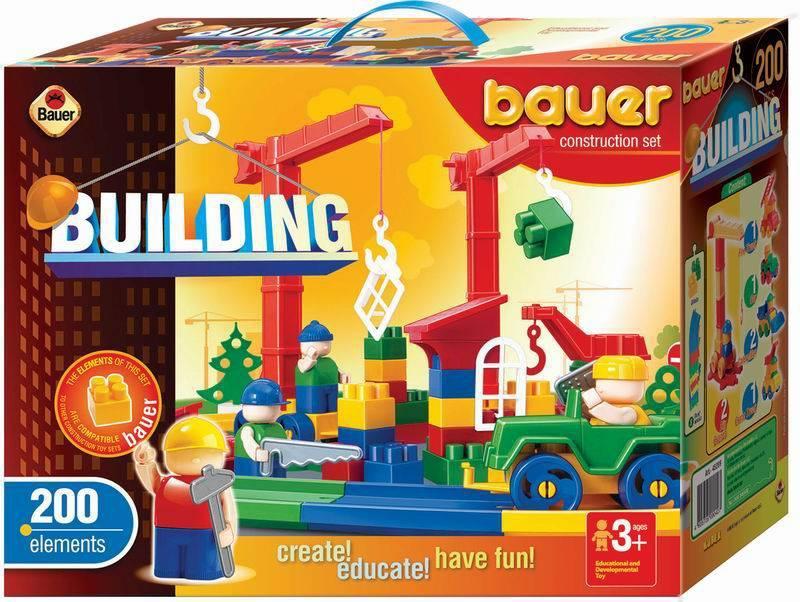Конструктор серии «Стройка», 200 элементовКонструкторы Bauer Кроха (для малышей)<br>Конструктор серии «Стройка», 200 элементов<br>