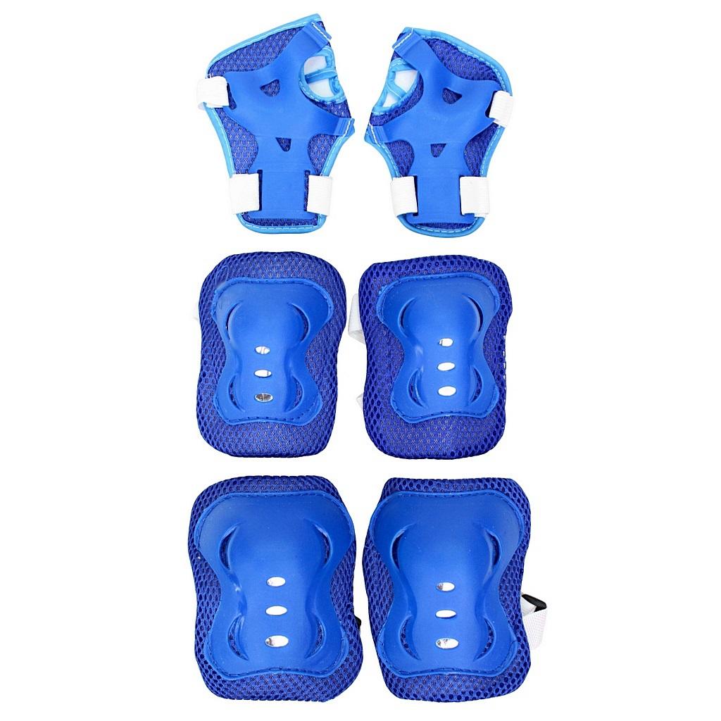 Набор защиты для катания 144404 YWHJ-023, размер S, цвет – blueЗащита: шлемы и пр.<br>Набор защиты для катания 144404 YWHJ-023, размер S, цвет – blue<br>