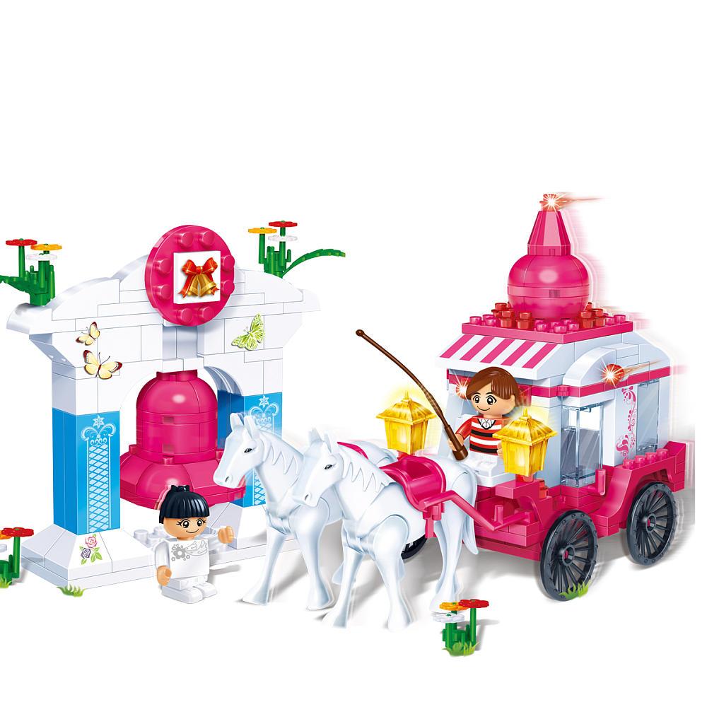 Игровой конструктор - Карета с лошадьми, с аксессуарамиКонструкторы BANBAO<br>Игровой конструктор - Карета с лошадьми, с аксессуарами<br>