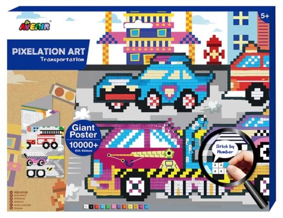 Картина из пиксельной мозаики - Транспорт по цене 656