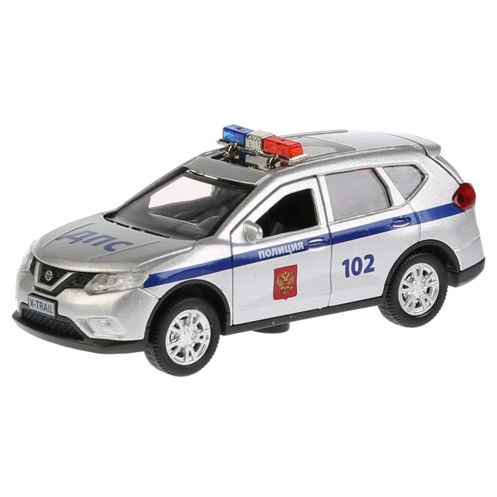 Купить Машина металлическая инерционная - Nissan X-Trail - Полиция, 12 см, свет, звук, , Технопарк