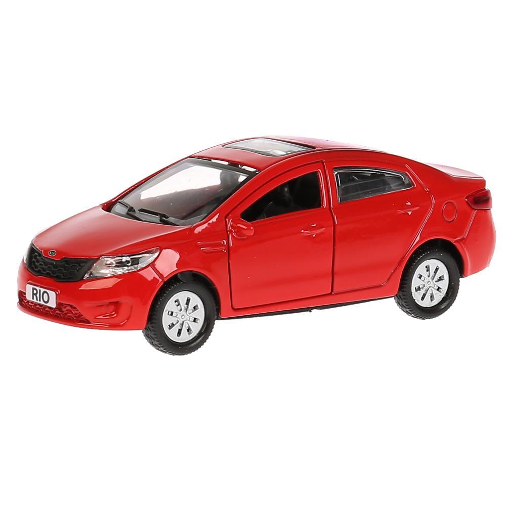 Купить Модель Kia Rio, 12 см, открываются двери, инерционная, красная, Технопарк