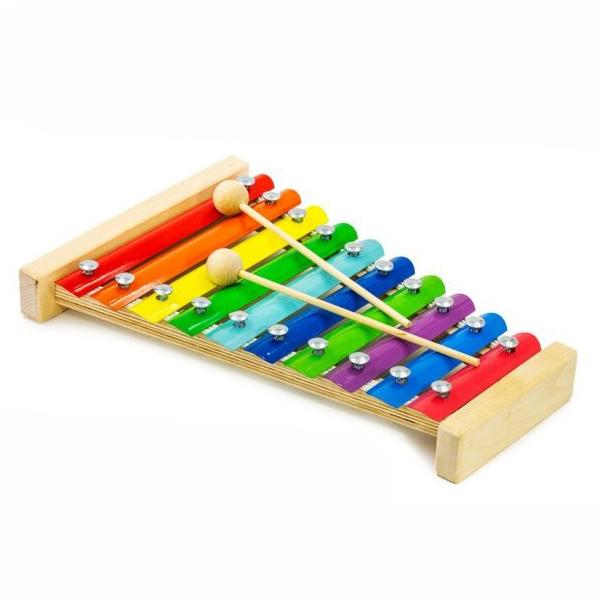 Музыкальный инструмент – Металлофон, 10 планокКсилофоны<br>Музыкальный инструмент – Металлофон, 10 планок<br>
