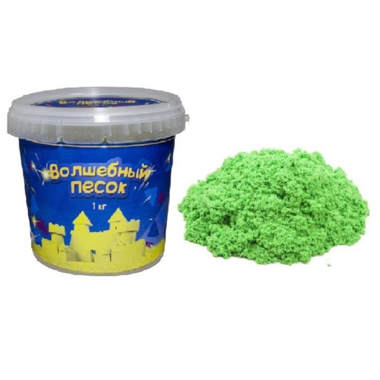 Волшебный песок с формочкой, 1 кг., цвет – зеленыйКинетический песок<br>Волшебный песок с формочкой, 1 кг., цвет – зеленый<br>