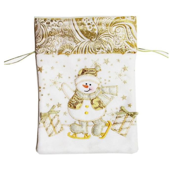 Мешок для подарка, размер 17,5 х 24 см., золотойПодарочные пакеты<br>Мешок для подарка, размер 17,5 х 24 см., золотой<br>