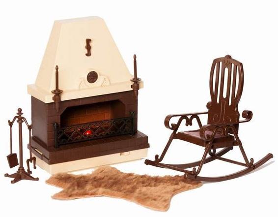 Игровой набор мебели для каминной комнаты из серии КоллекцияКукольные домики<br>Игровой набор мебели для каминной комнаты из серии Коллекция<br>