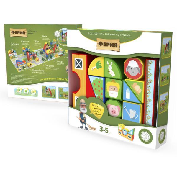 Купить Пластиковые кубики MAGNETICUS Ферма