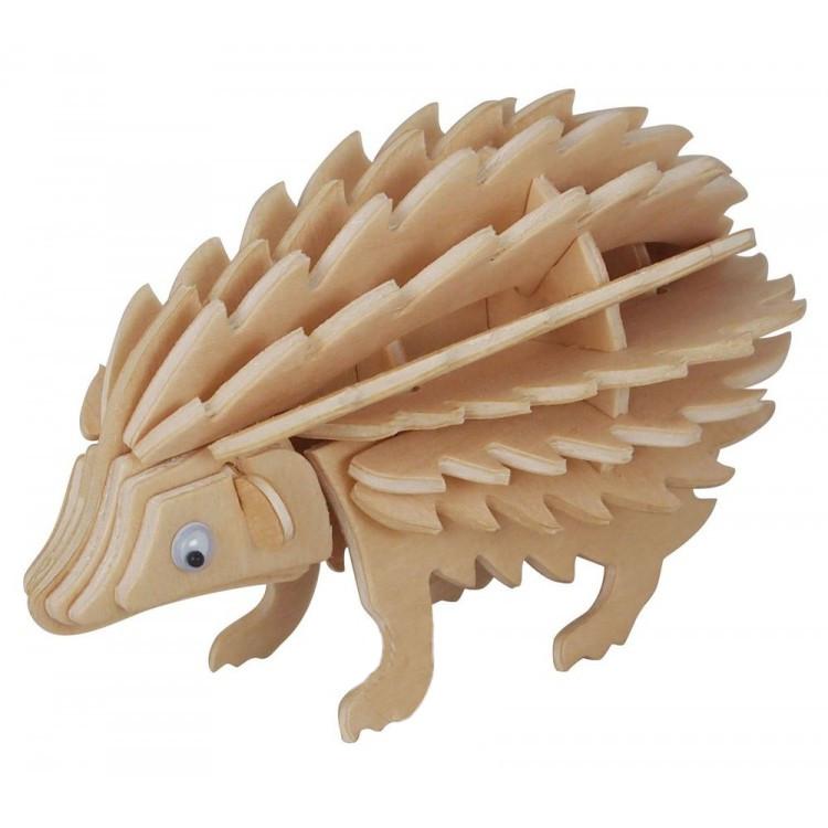 Модель деревянная сборная - ЕжикПазлы объёмные 3D<br>Модель деревянная сборная - Ежик<br>