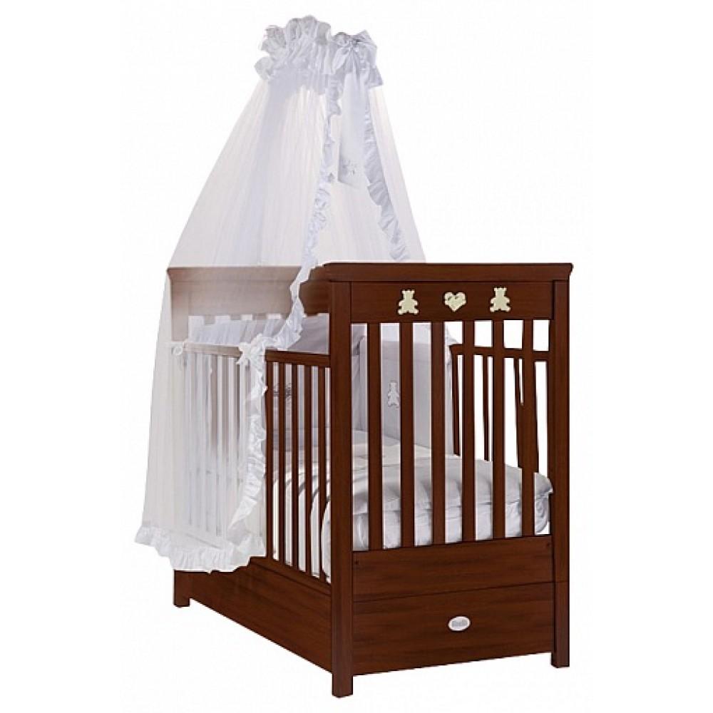 Кровать детская Feretti Fms Enchant Noce Scuro/ Dark WalnutДетские кровати и мягкая мебель<br>Кровать детская Feretti Fms Enchant Noce Scuro/ Dark Walnut<br>