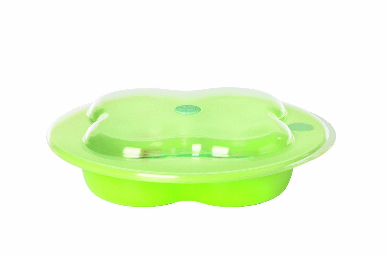 Тарелка с крышкой в форме лаврового листа, зеленаяПосуда<br>Тарелка с крышкой в форме лаврового листа, зеленая<br>