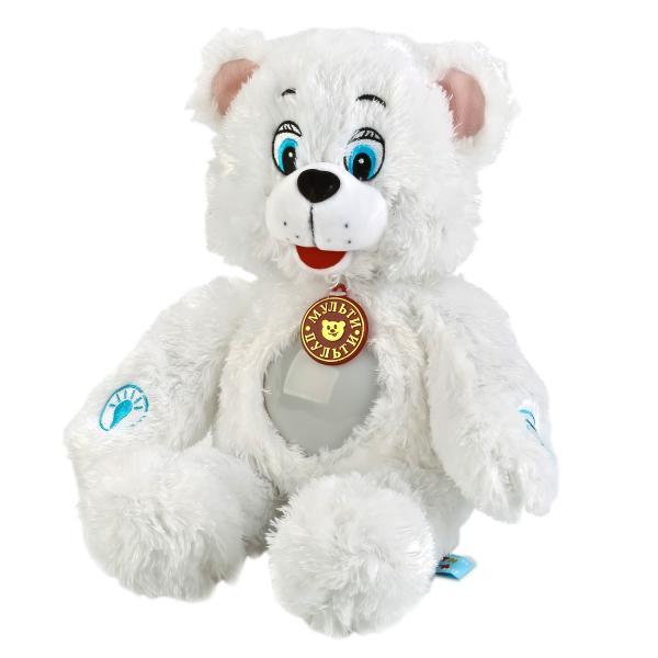 Купить Озвученная мягкая игрушка-светильник - Лунный мишка, 38 см, Мульти-Пульти