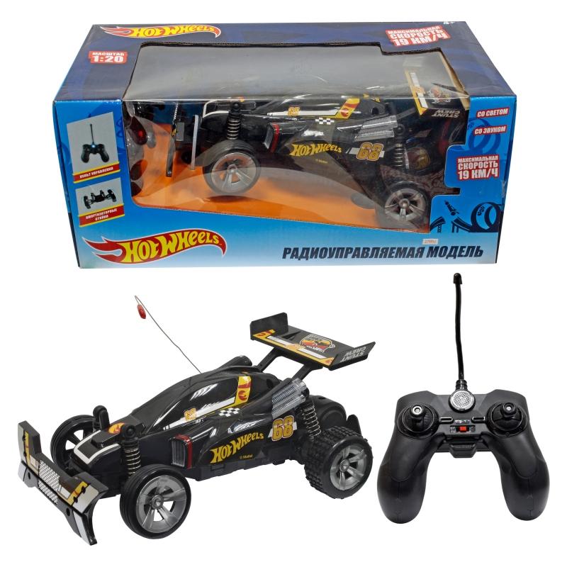 Купить Машинка на р/у - Hot Wheels Багги 1:20, черная, свет и звук, 1TOY