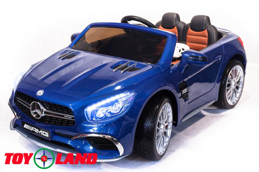 Электромобиль Mercedes-Benz SL65, цвет – синийЭлектромобили, детские машины на аккумуляторе<br>Электромобиль Mercedes-Benz SL65, цвет – синий<br>