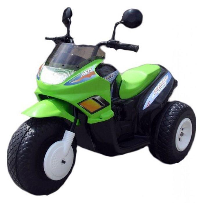 Мотоцикл CT - Super Space на аккумуляторе зелёно-чёрный, 2 мотораМотоциклы детские на аккумуляторе<br>Мотоцикл CT - Super Space на аккумуляторе зелёно-чёрный, 2 мотора<br>