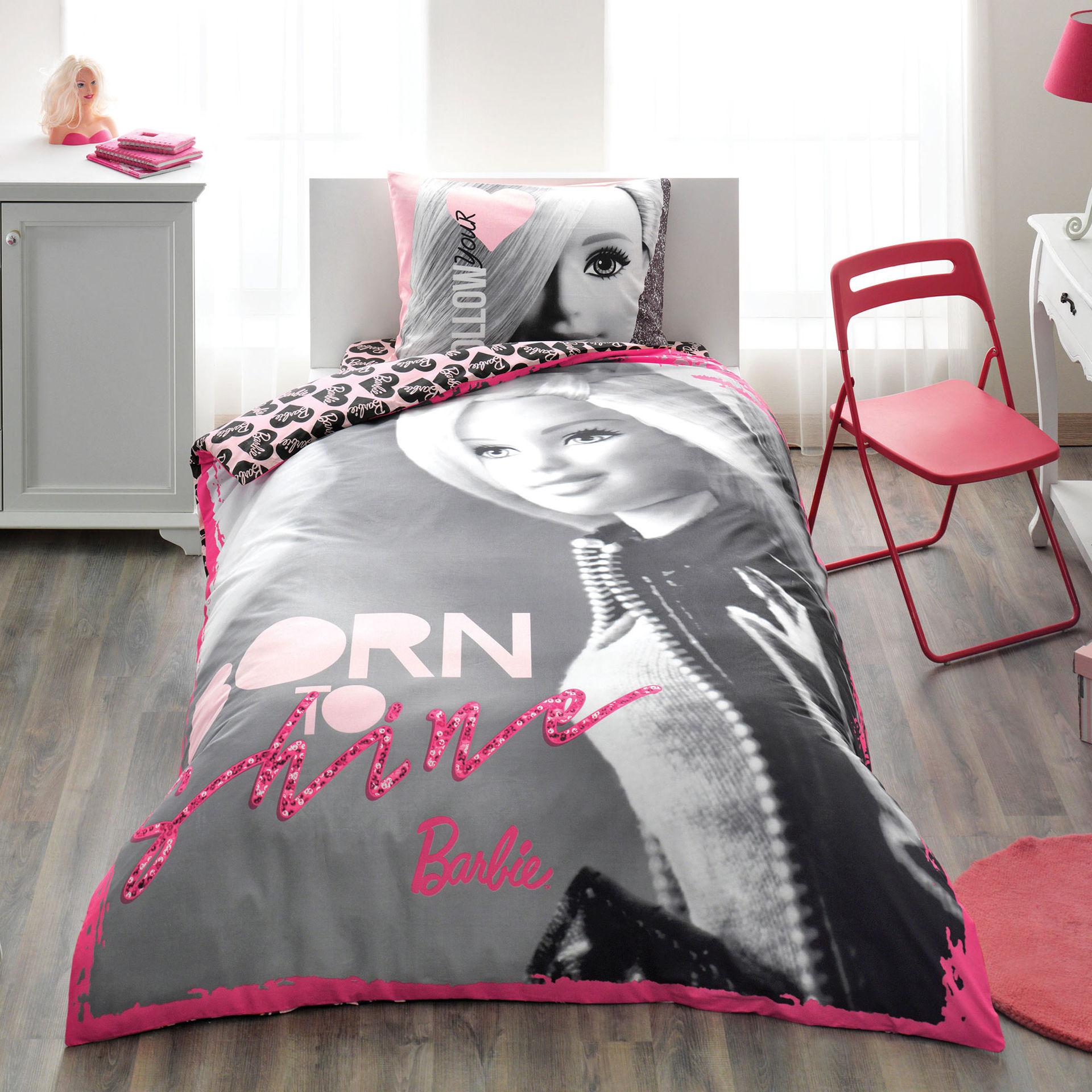 Комплект постельного белья Ranforce - Barbie Shine, 1,5 спальныйДетское постельное белье<br>Комплект постельного белья Ranforce - Barbie Shine, 1,5 спальный<br>