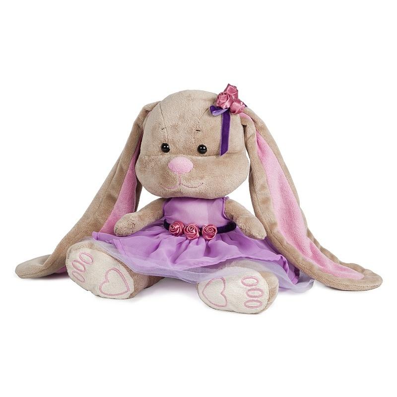 Мягкая игрушка - Зайка Лин Черничный Пудинг, 25 см, в коробкеЗайки Жак и Лин (Jack&amp;Lin)<br>Мягкая игрушка - Зайка Лин Черничный Пудинг, 25 см, в коробке<br>