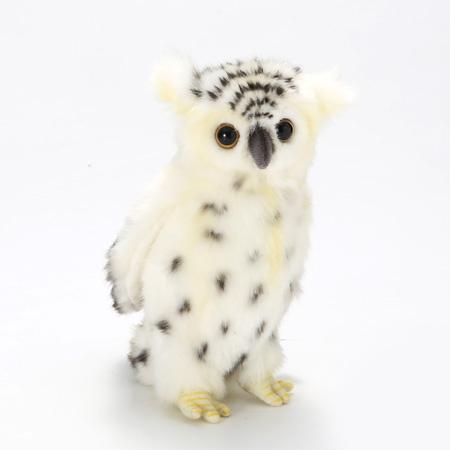 Мягкая игрушка – Сова белая, 18 см.Животные<br>Мягкая игрушка – Сова белая, 18 см.<br>