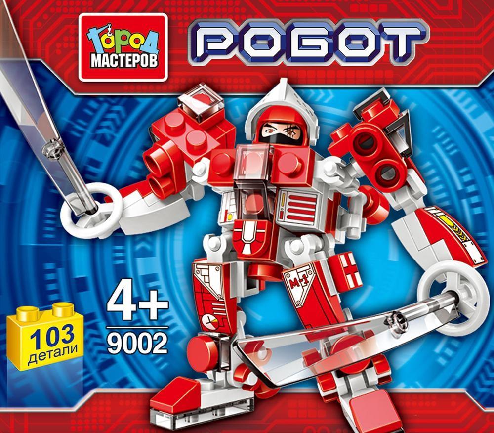 Конструктор – Робот. Несколько расцветок, Город мастеров  - купить со скидкой