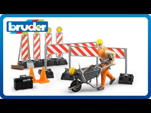 Набор знаков дорожных работ с фигуркой рабочегоАксессуары<br>Набор знаков дорожных работ с фигуркой рабочего<br>