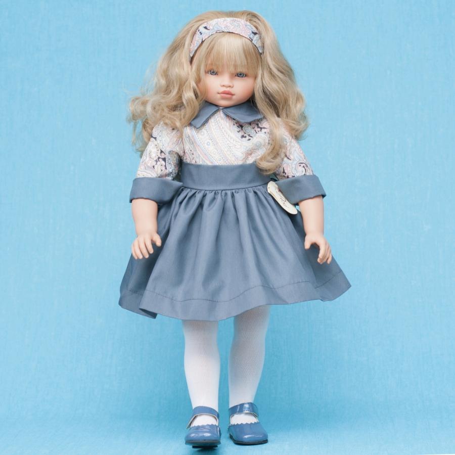 Кукла Эли в синем платье, 60 см.Куклы ASI (Испания)<br>Кукла Эли в синем платье, 60 см.<br>