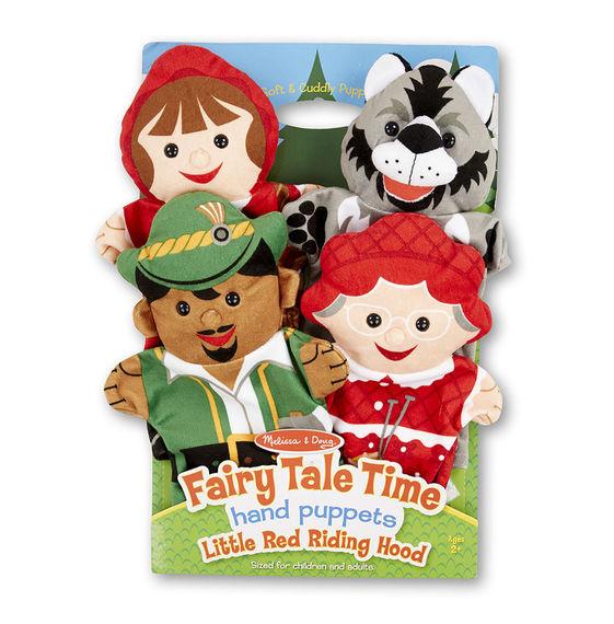 Плюшевые куклы на руку – Красная шапочкаДетский кукольный театр <br>Плюшевые куклы на руку – Красная шапочка<br>