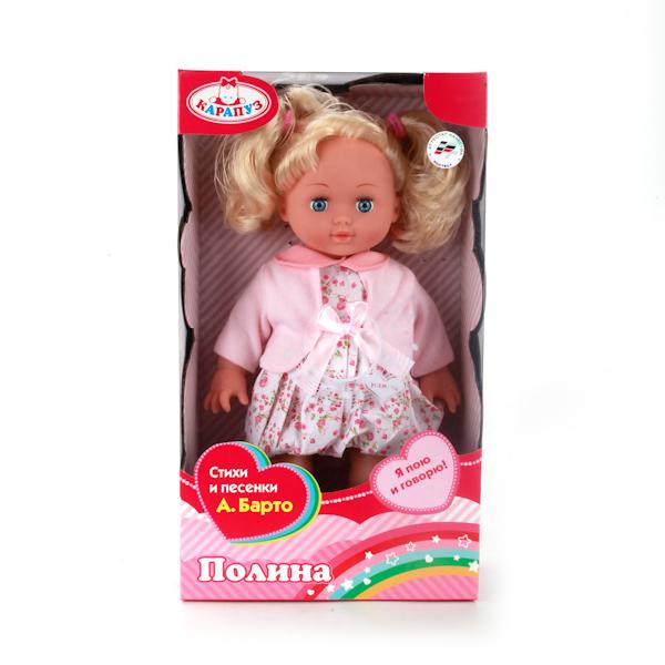 Озвученная кукла – Полина, 35 смКуклы Карапуз<br>Озвученная кукла – Полина, 35 см<br>