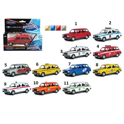 Машинка металлическая Lada 2104, несколько видов, 1:36LADA<br>Машинка металлическая Lada 2104, несколько видов, 1:36<br>