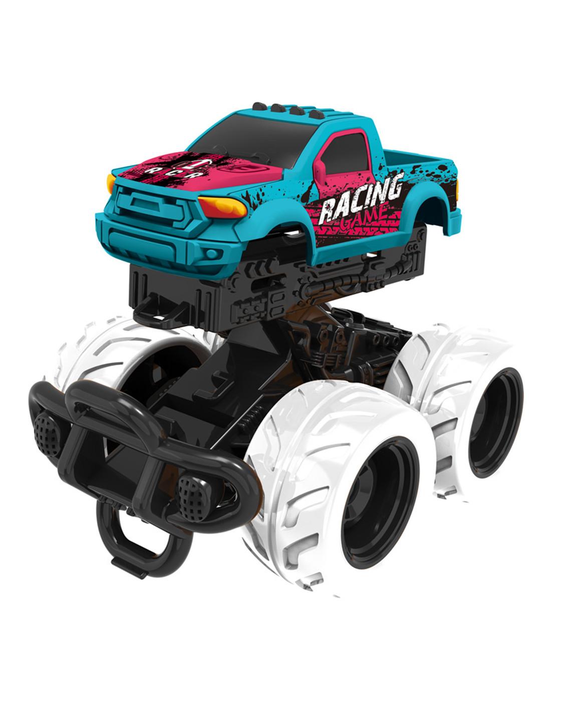 Машинка с краш-эффектом, пул-бэк, голубая фото