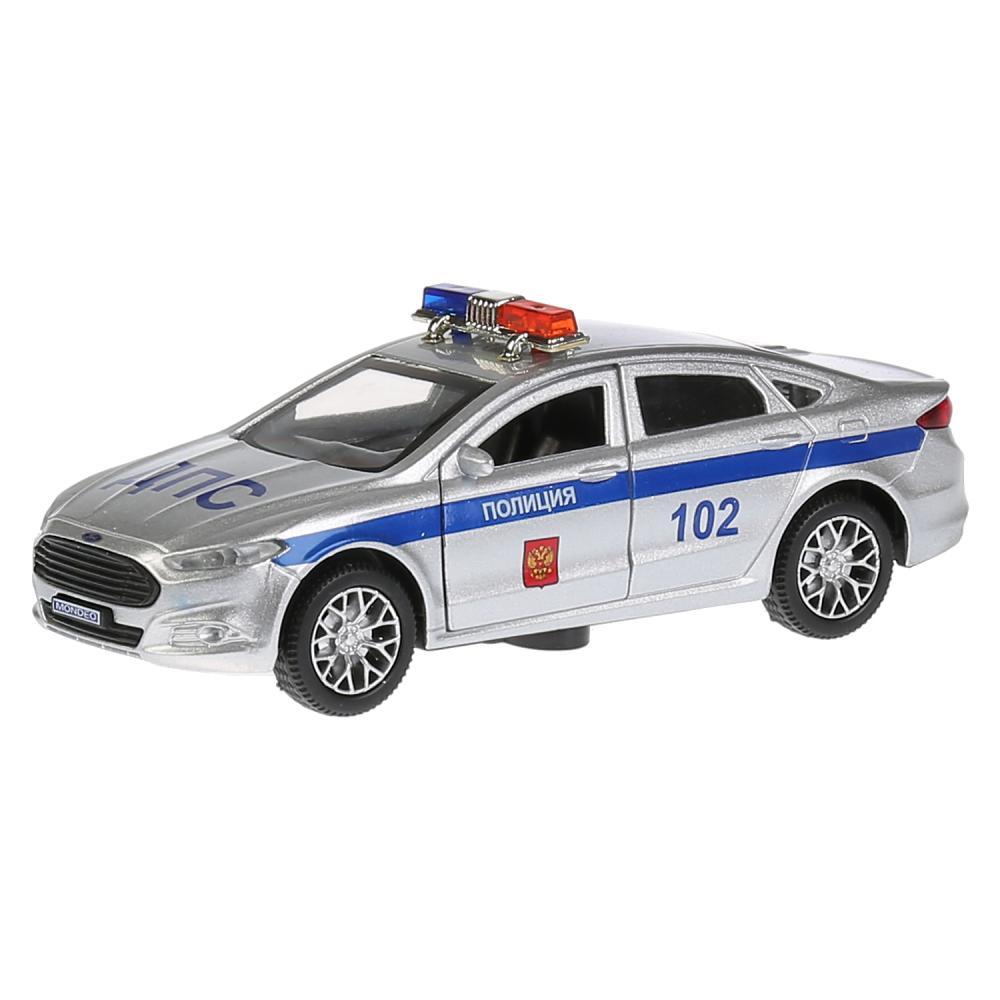 Купить Машина металлическая Ford Mondeo Полиция, длина 12 см., свет и звук, открываются двери, инерционная, Технопарк