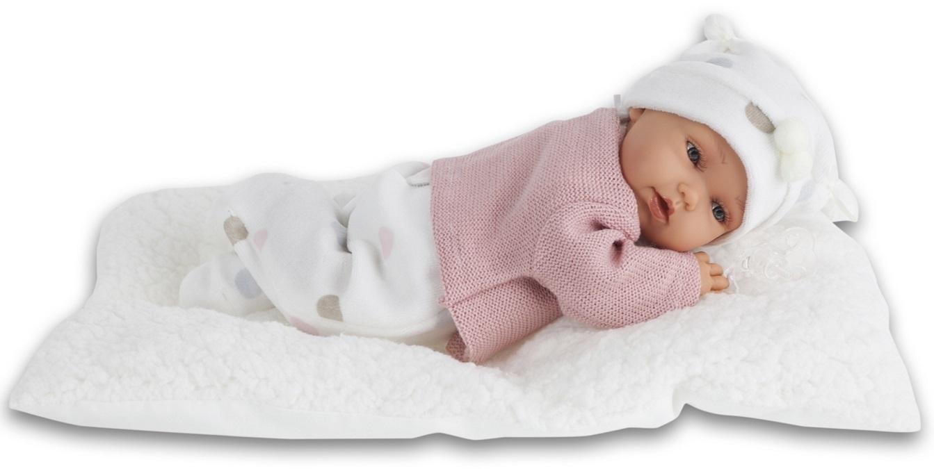 Кукла-младенец Ману в розовом, озвученная, 29 см.Куклы Антонио Хуан (Antonio Juan Munecas)<br>Кукла-младенец Ману в розовом, озвученная, 29 см.<br>