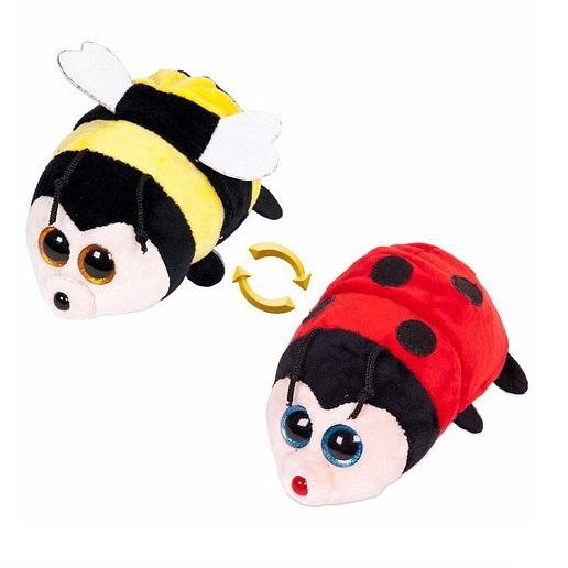 Игрушка мягкая перевертыш - Пчёлка/Божья коровка, 16 см.Животные<br>Игрушка мягкая перевертыш - Пчёлка/Божья коровка, 16 см.<br>