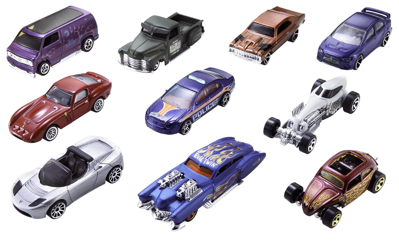 Hot Wheels. Подарочный набор из 10-ти машинок Mattel