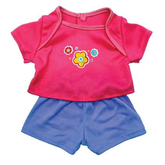 Одежда для куклы размером 38-43 см. - футболочка с цветочком и штанишкиОдежда для кукол<br>Одежда для куклы размером 38-43 см. - футболочка с цветочком и штанишки<br>