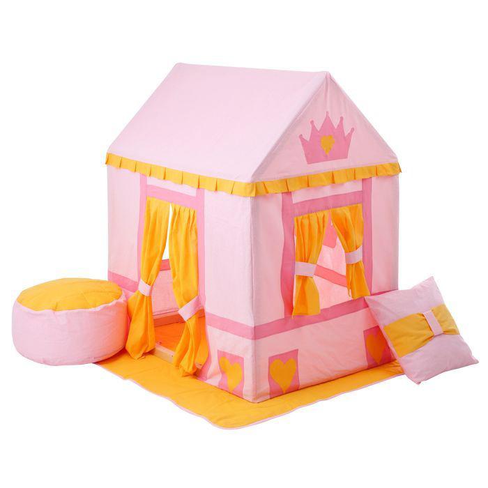 Текстильный домик-палатка с пуфиком - Дворец Три КороныДомики-палатки<br>Текстильный домик-палатка с пуфиком - Дворец Три Короны<br>