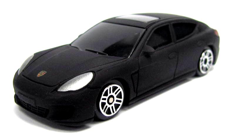 Машина металлическая Porsche Panamera, 1:64, черный матовый цветPorsche<br>Машина металлическая Porsche Panamera, 1:64, черный матовый цвет<br>