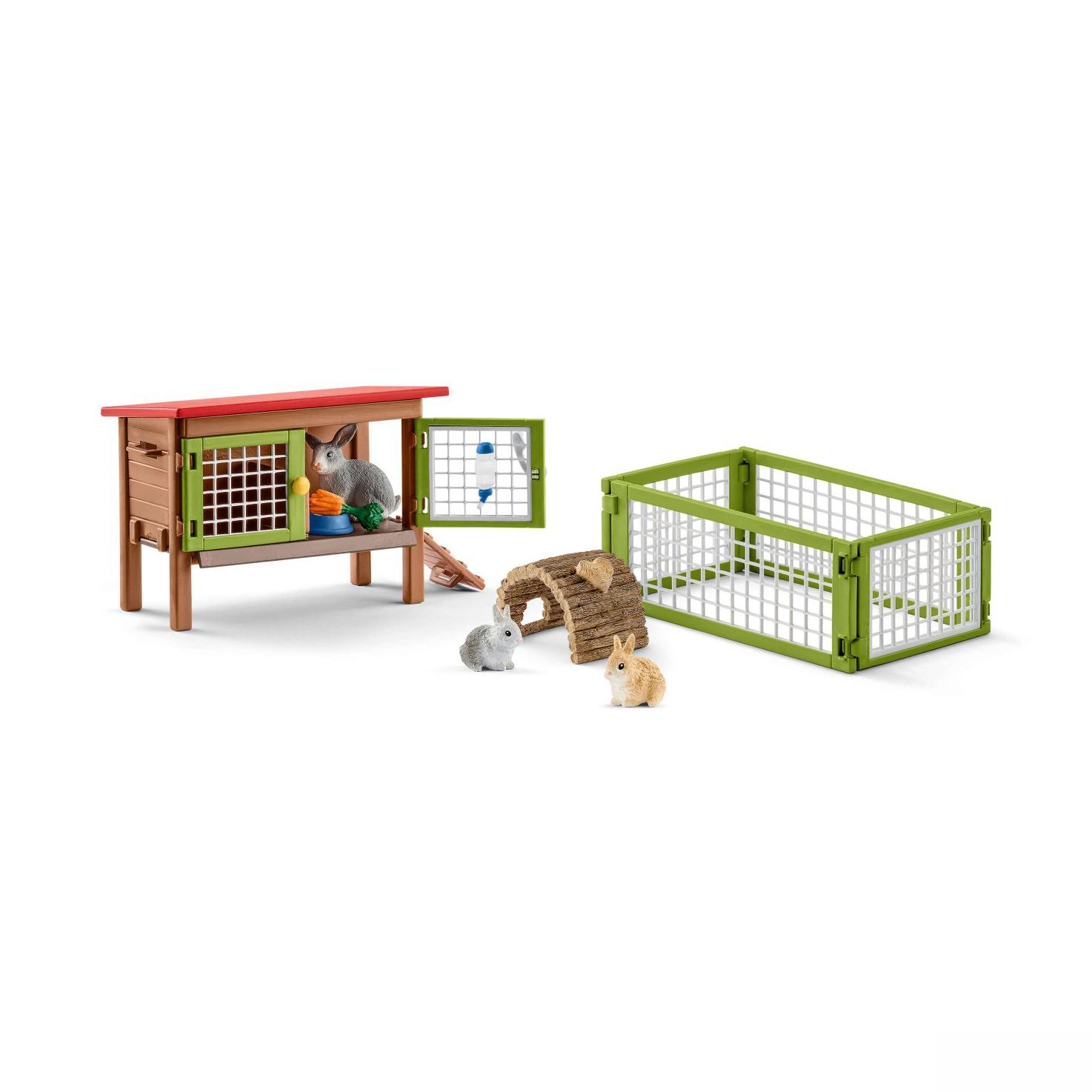 Купить Игровой набор - Клетка для кроликов, Schleich