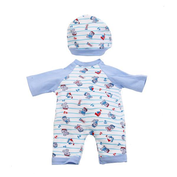 Комплект одежды для куклы Карапуз - Комбинезон с шапочкой, 40-42 см, голубойОдежда для кукол<br>Комплект одежды для куклы Карапуз - Комбинезон с шапочкой, 40-42 см, голубой<br>